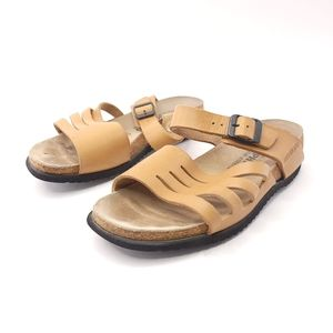 Mephisto Air Relax Leather Cork Brown Sandals
